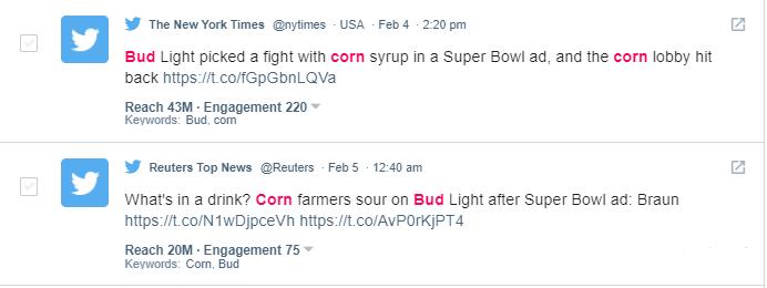 Top corn twitter tweets